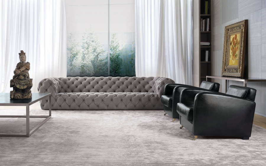 Baxter Chester Moon sofa and pouf