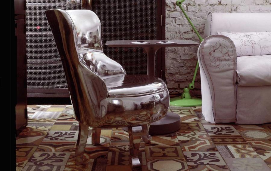 Baxter Sellerina aluminium armchair