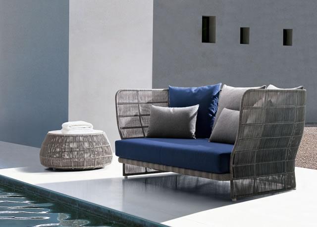 B&B Outdoor Canasta sofa and armchair