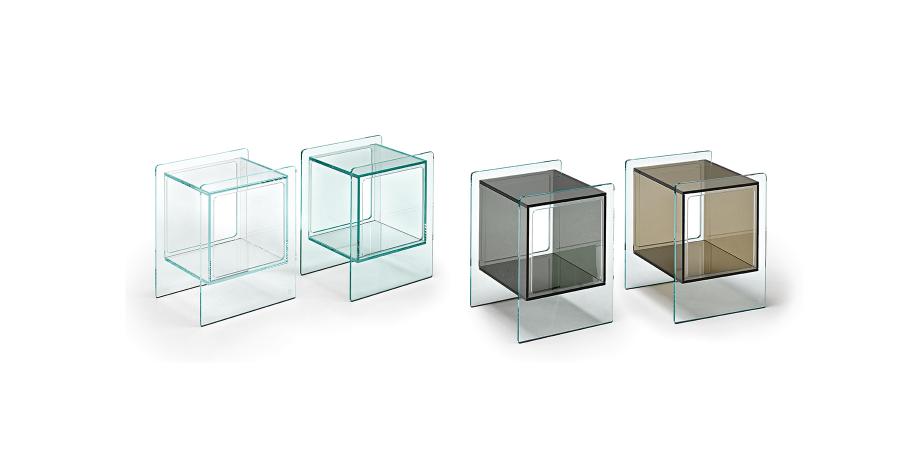 Fiam Magique Cube Bedside Table